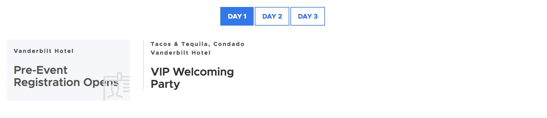 Day 1 Agenda